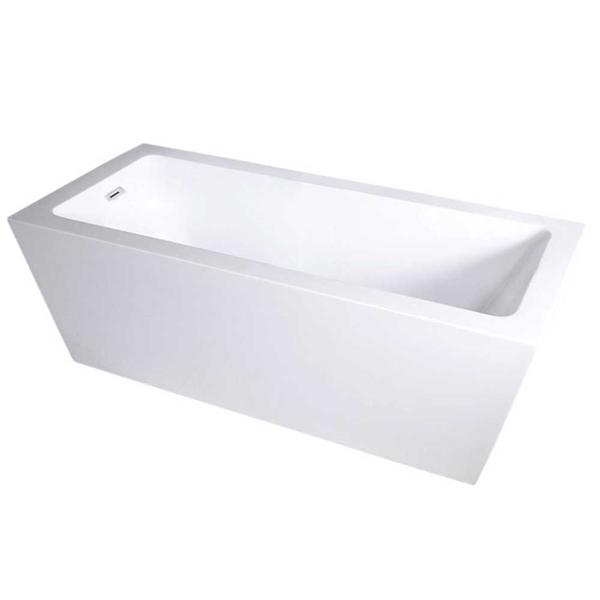 SanSiro Asti59E 59 X 34 Inch End Drain High Gloss White