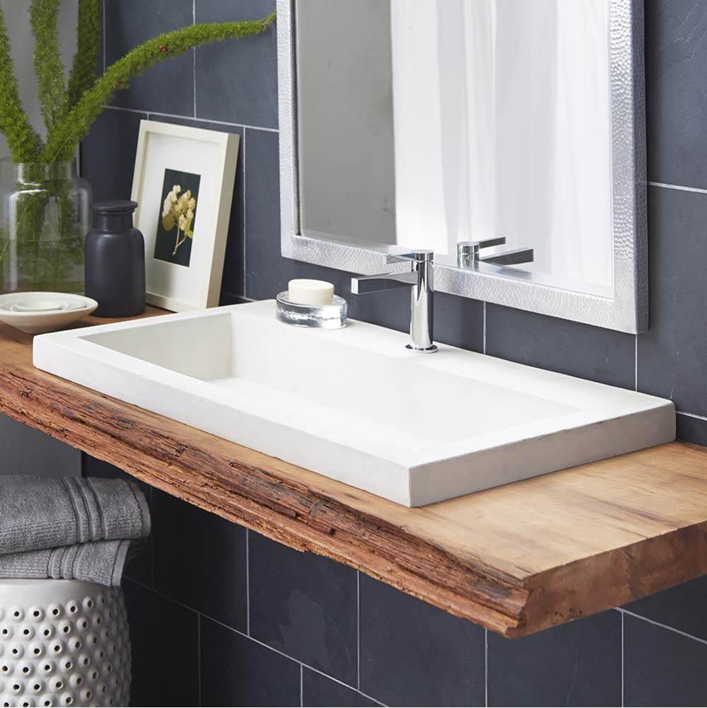 trough 3619 bathroom sink in pearl