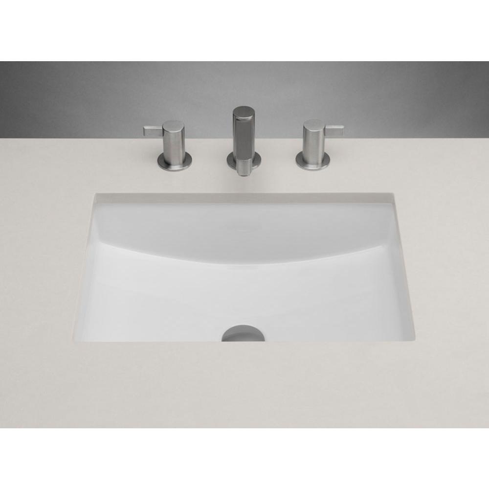 19 plane rectangular ceramic undermount bathroom sink in white