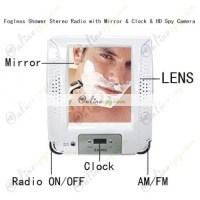 Bathroom Hidden Camera Fogless Shower Stereo Radio with ...