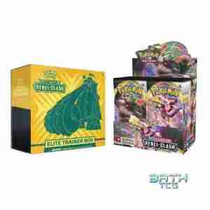 Pokemon TCG Rebel Clash Booster Box and Elite Trainer Box Combo
