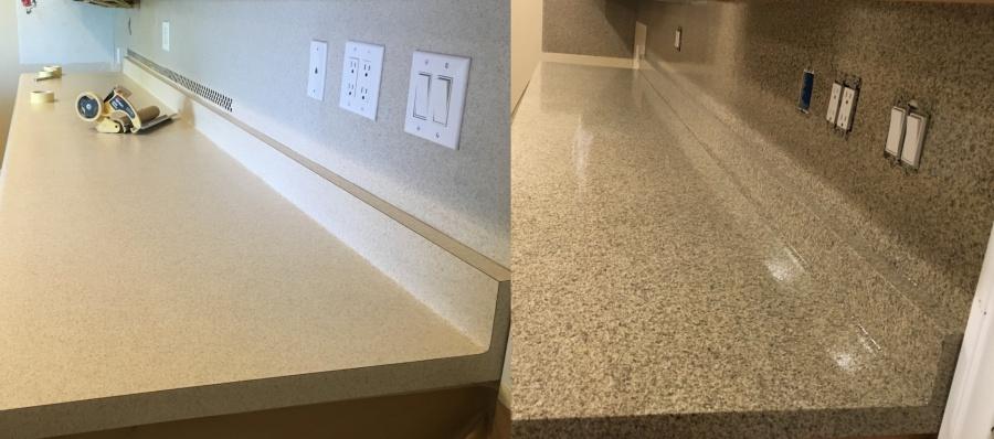 Refinish and Repair Countertop Sparkle granite style