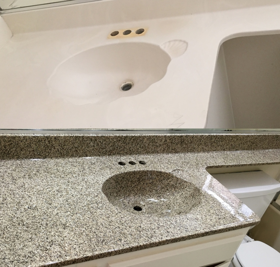 reglaze kitchen sink islands portable bathtub countertop reglazing riverside corona norco jurupa bathroom are available in any solid color and speckled finishes