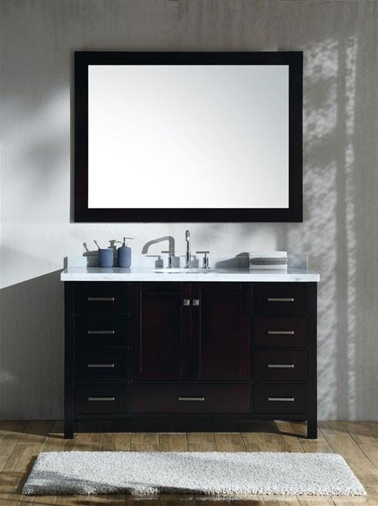 Ariel Cambridge single 55Inch Modern Bathroom Vanity
