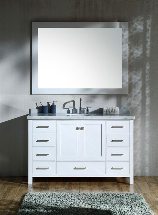 Ariel Cambridge Single 55 Inch Modern Bathroom Vanity