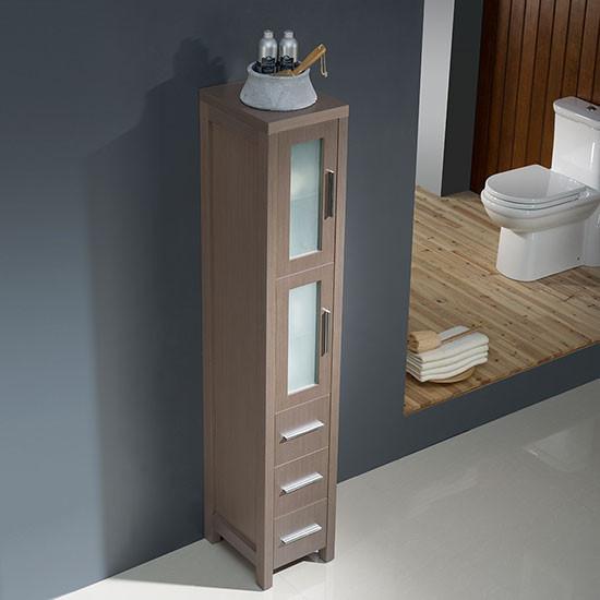 Fresca Torino 12inch Transitional Bathroom Tall Linen