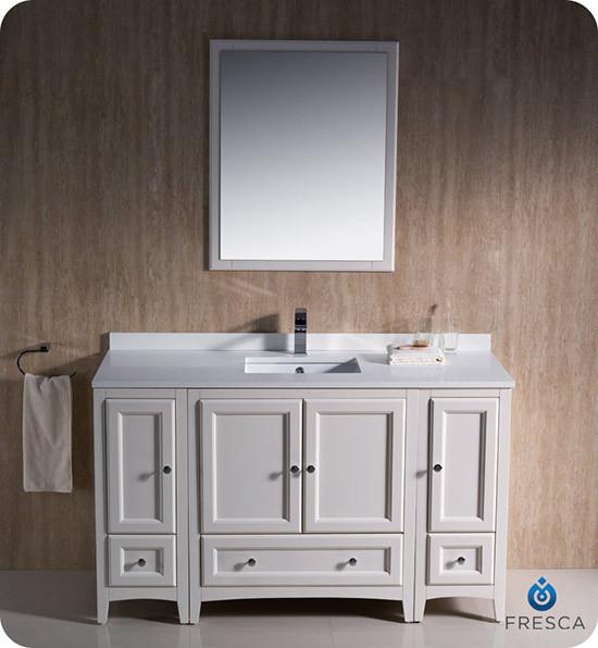 Fresca Oxford single 54inch Transitional Bathroom