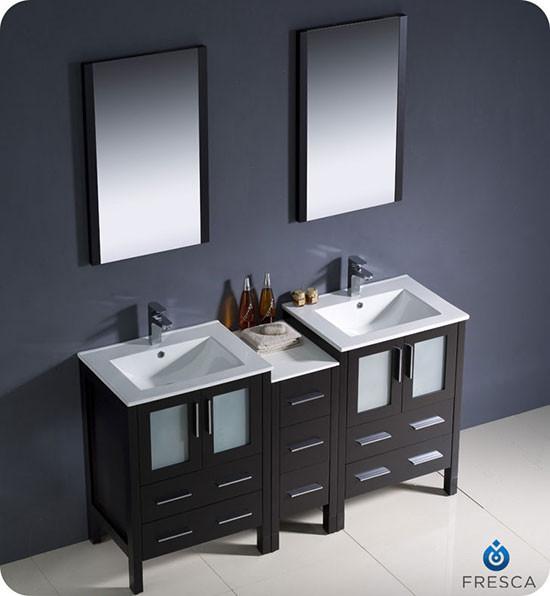 Fresca Torino double 60inch Modern Bathroom Vanity