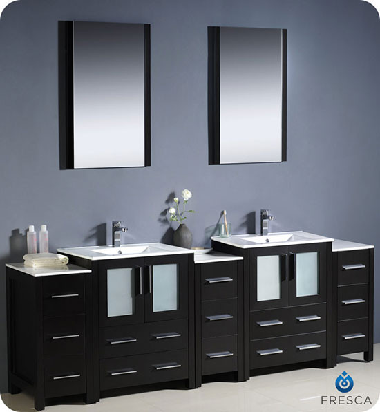 Fresca Torino double 84inch Modern Bathroom Vanity