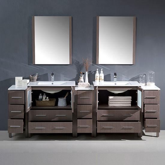 Fresca Torino double 96inch Modern Bathroom Vanity
