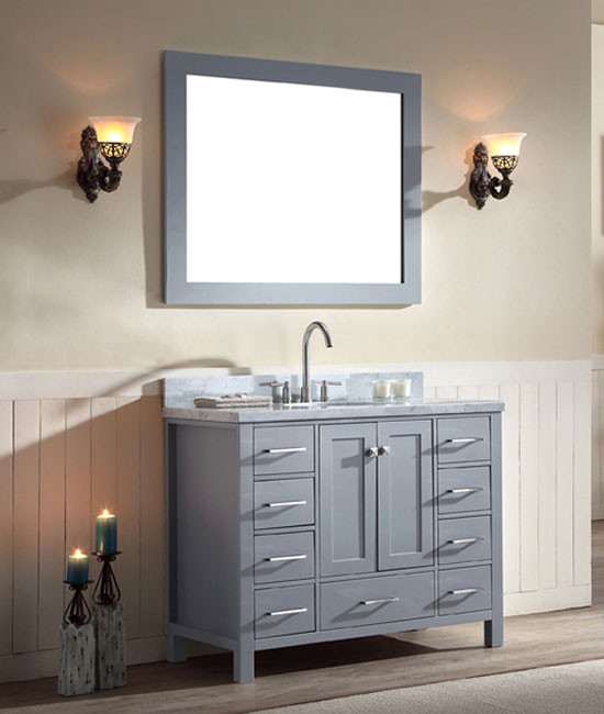 Ariel Cambridge Single 43 Inch Modern Bathroom Vanity