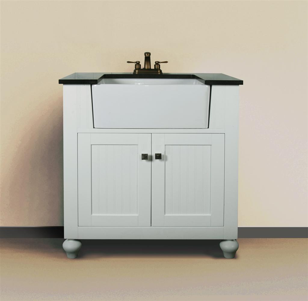 Melendy single 30Inch Modern Bathroom Vanity  Matte White