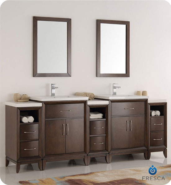 84 Bathroom Vanity Double Sink