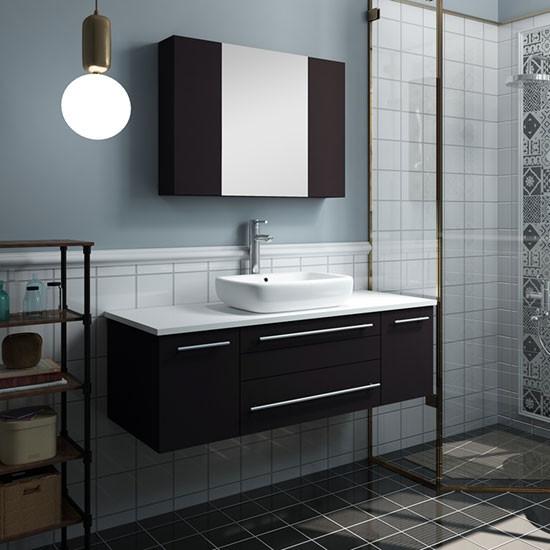 modern wall mount bathroom vanity set