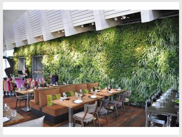 Un Restaurant Adopte Un Mur Vgtal En Guise De Dcoration