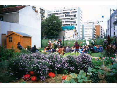 Jardin partagé à Paris / France