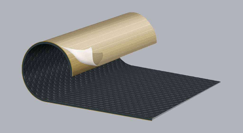 adhesive floor covering