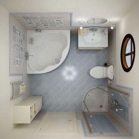 petite salle de bain avec baignoire