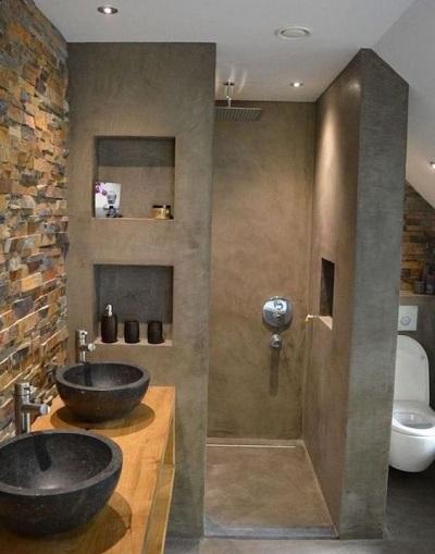 salle de bain avec douche a l italienne