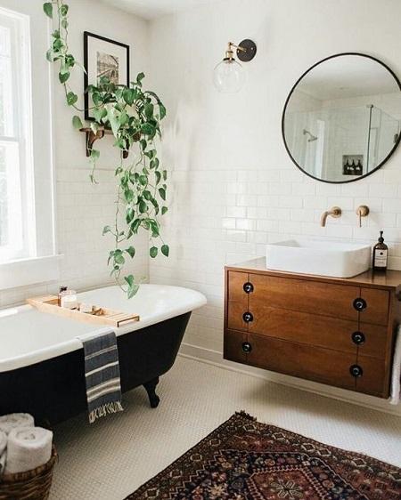 pose d un meuble de salle de bain