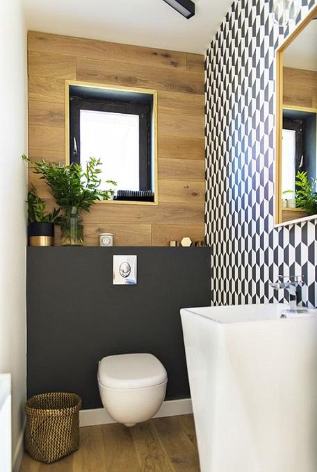 amenagement d un wc avec lave mains