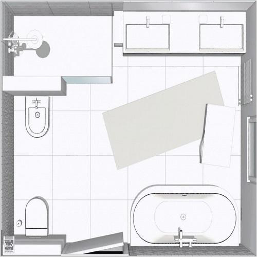 salle de bain avec douche baignoire d angle