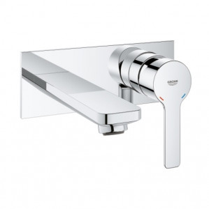 robinet mural lavabo grohe lineare taille m
