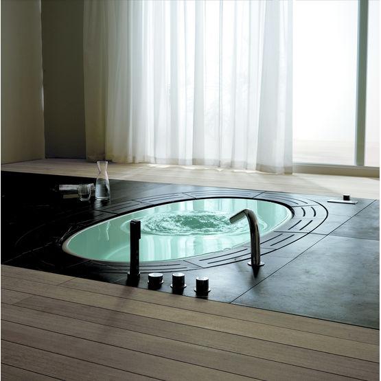 baignoire grand ovale a effet source et debordement sorgente