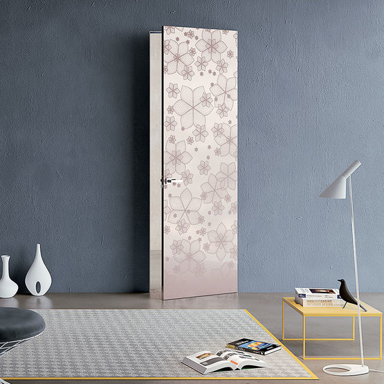 bloc porte a fleur de mur effet invisible syntesis battant 100