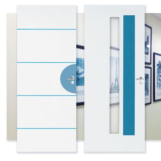 Bloc Porte Palier Ei30 Avec Huisserie Anti Feu Isolation Acoustique Et Stabilite Line Righini