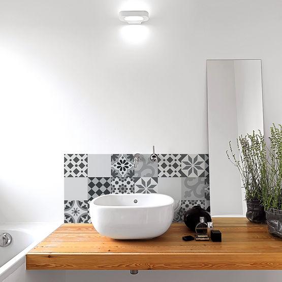 credence salle de bain pvc facile a poser plusieurs modeles disponibles