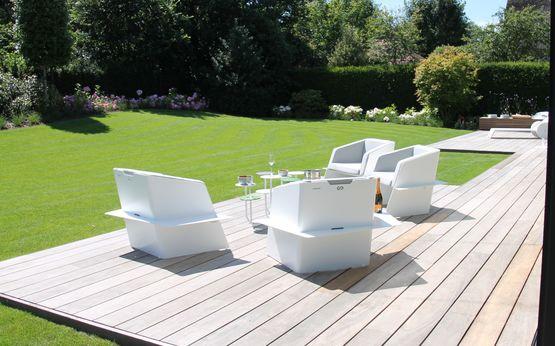 fauteuil en tole d aluminium pour terrasse slice