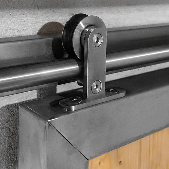 ferrure de porte coulissante bois metal enfield i ac030101