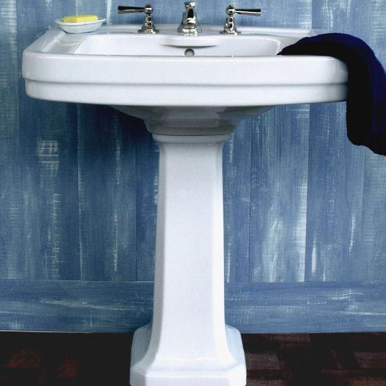 lavabo avec colonne en ceramique au design des annees 30 edward