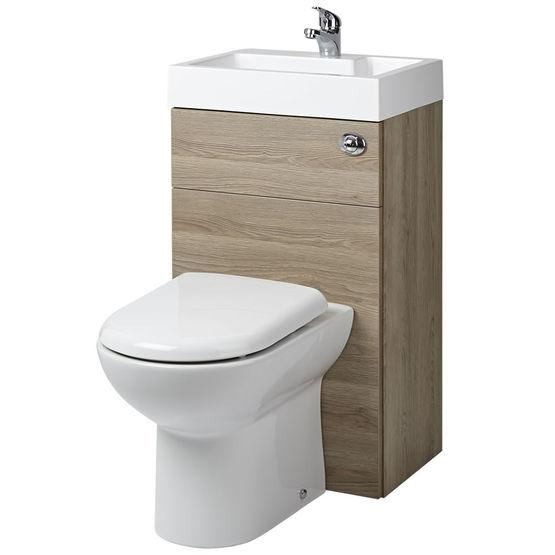 pack wc avec lave mains integre et coffrage chene prc845cb c