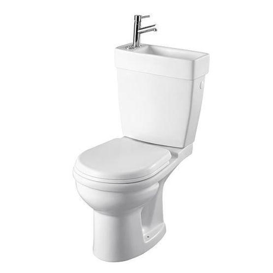 pack wc lave mains porcelaine avec robinet chrome pack w c au sol