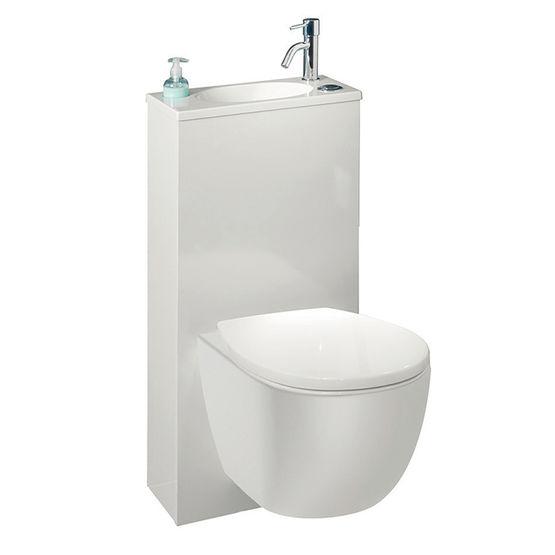 pack wc suspendu avec lave mains et distributeur de savon integres pack wc trio 2