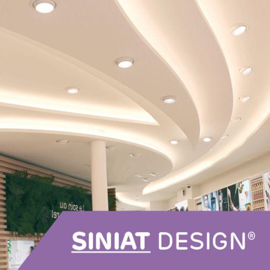 plaque de plaque preformee sur mesure prete a poser pour plafond cloison siniat design