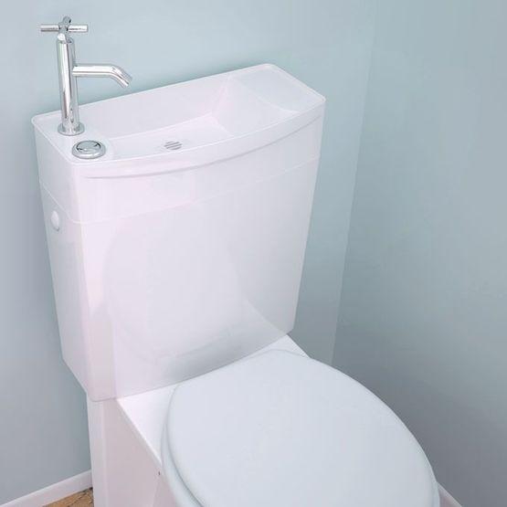 reservoir wc avec lave mains integre et double chasse d eau ise o combine