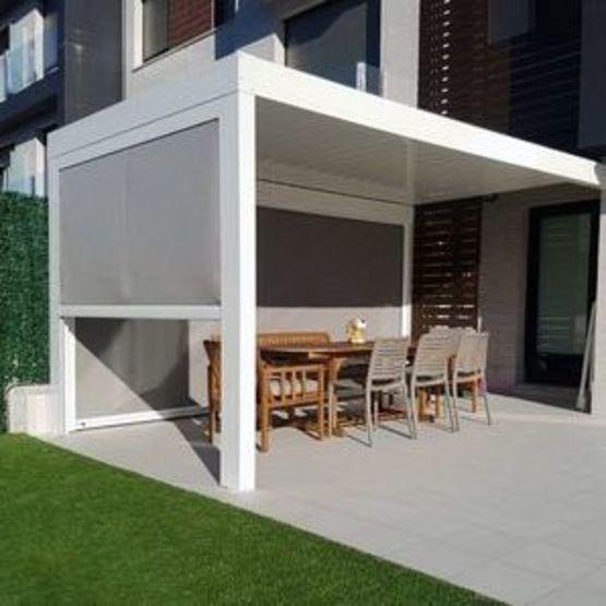 rideau motorise pour pergola bioclimatique design et lounge alsol