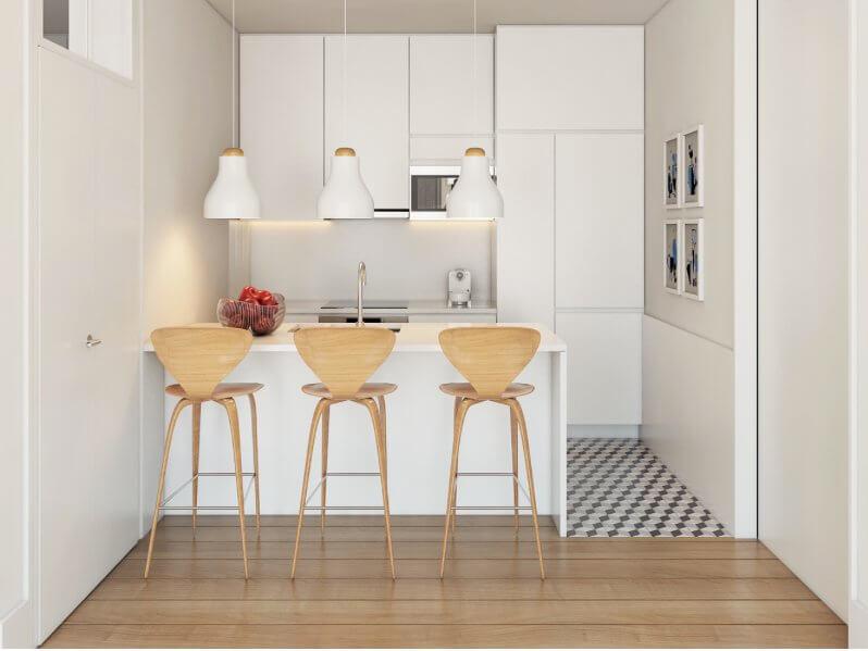 Cuisines ouverte rénovation studio paris 75
