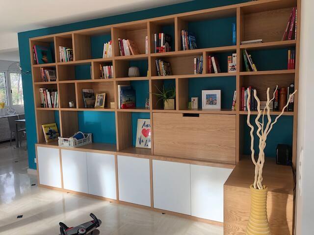 salon bibliothèque bois sur-mesure-paris75