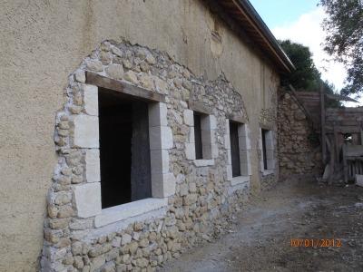 Création d'ouverture en pierre de taille du Gers - Roquefort (32)