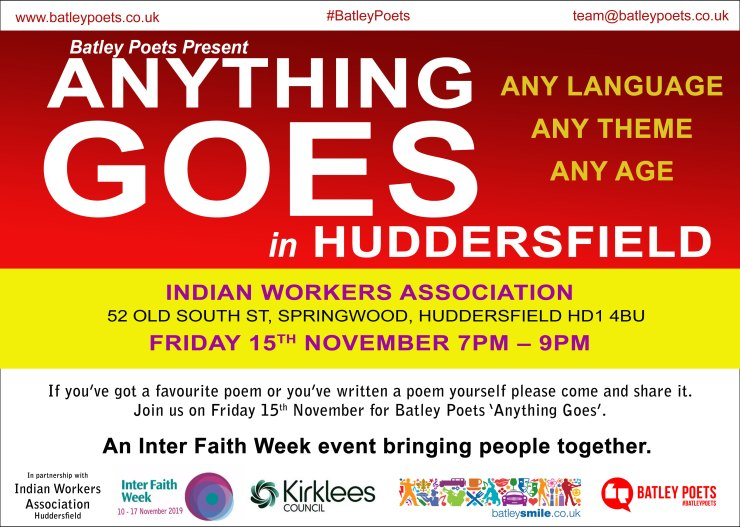 Anything Goes Huddersfield Poster