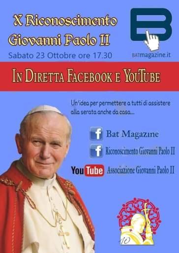 San Ferdinando – Sabato il X Riconoscimento Giovanni Paolo II
