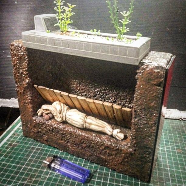 Miniatur kuburan viral detailnya bikin inget mati  Batok