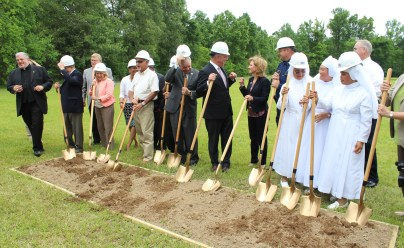 Breaking ground at Metanoia Manor at an undisclosed location .