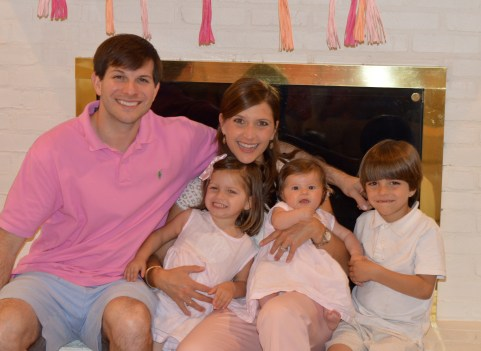 Steven and Mauree Brooksher with their children, Christopher, 6; Marguerite Jane, 3; and Anna Beth, 7 months.
