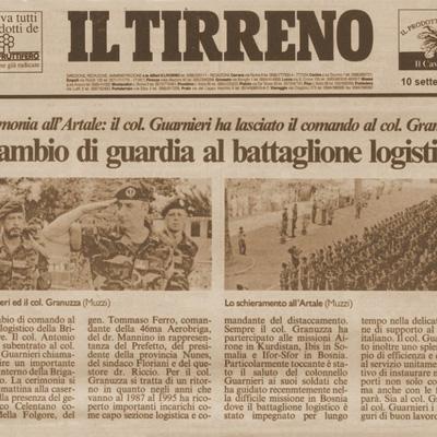 10 settembre 1997 Cambio di guardia al battaglione logistico