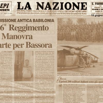 19 giugno 2003 Missione Antica Babilonia – Il 6° Reggimento di Manovra parte per Bassora